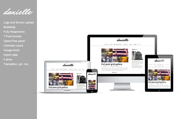Danielle - blog wordpress theme