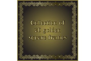 Golden square frames set