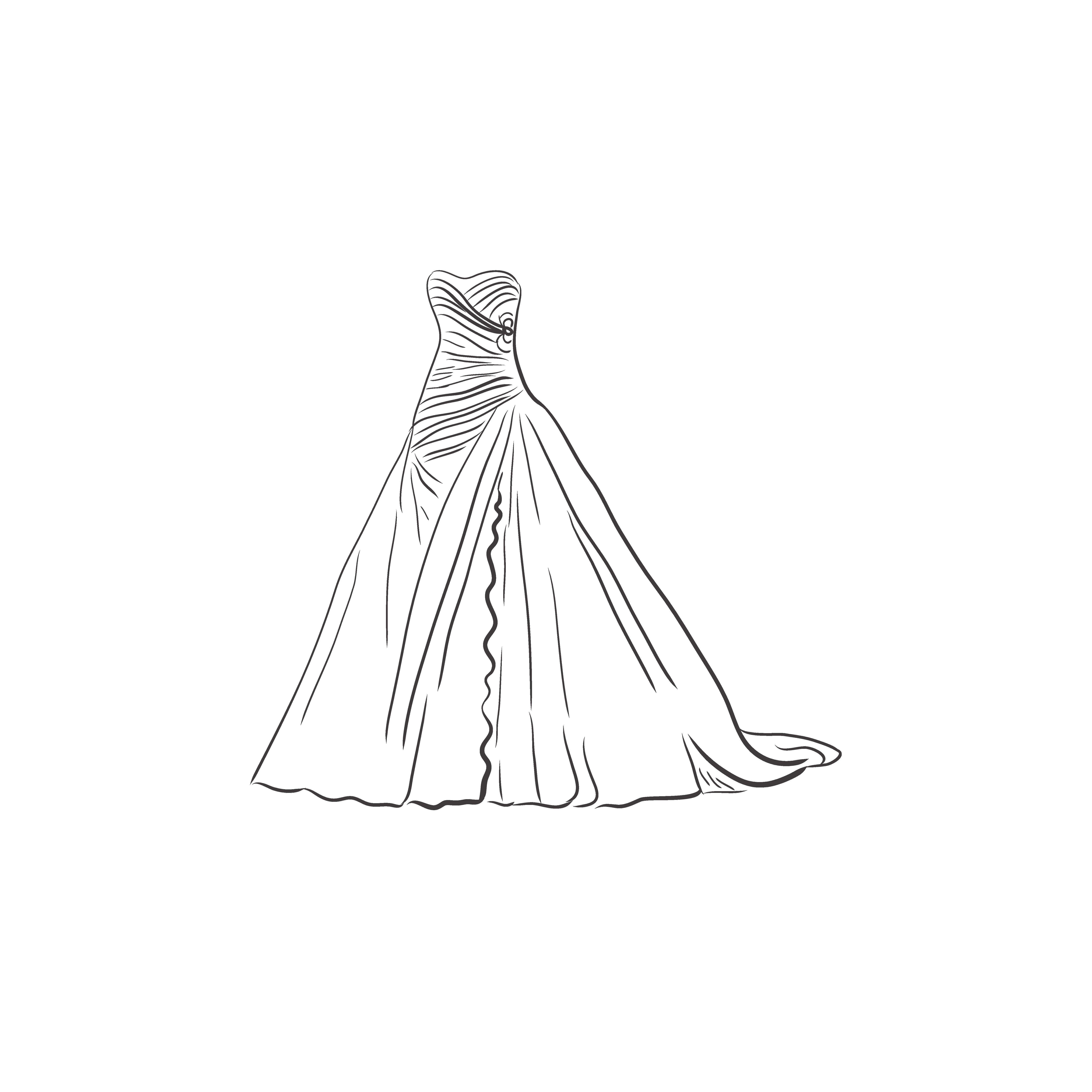 White dress drawing - White Dress Drawing 39