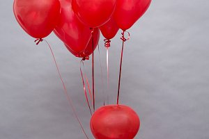 Background of red balloons