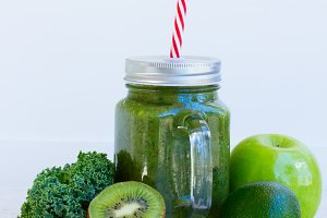 Fresh green smoothy drink