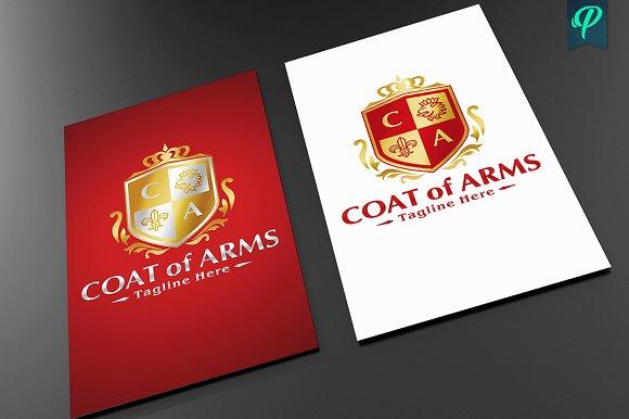Coat Of Arms Logo Template Templates Creative Market