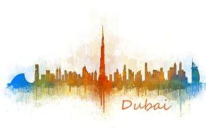 Dubai emirates, Cityscape Skyline v3
