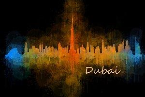 Dubai emirates, Cityscape Skyline v4