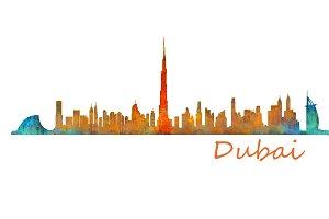 Dubai emirates, Cityscape Skyline v1