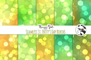 Seamless St. Patty's Day Bokehs