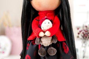 Cute Textile Handmade Interior Doll
