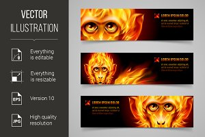Monkey Fire Banners