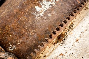 Piece of rusty metal