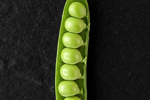 Fresh green juicy peas