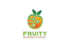 Creative Fruit Tech Logo
