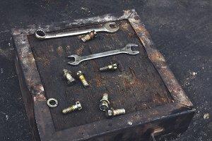 Mechanic Tools at Garage