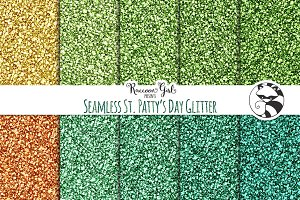 Seamless St Patty's Day Glitter