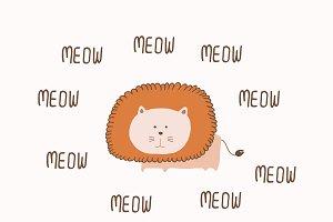 Lion meow Card