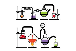 Chemistry Laboratory Infographic Set