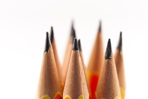 pencils nibs focused