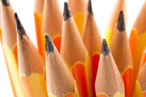 Pencils focused