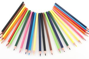 color pencils arranged