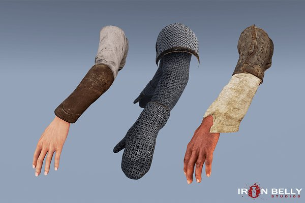3D People Models: Ironbelly Studios - Animated Medieval FP Arms Pack