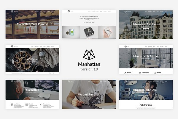 Manhattan - Multi-Purpose HTML5