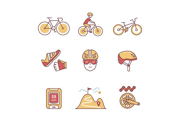 Bike cycling and biking accessories