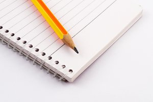 A pencil on notebook