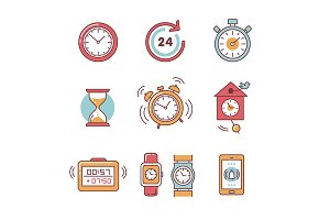 Types of alarms clocks and watches