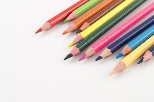 Color pencils in Random style