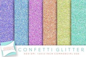 Confetti Glitter Digital Paper