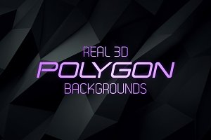 Real 3D Polygon Backgrounds