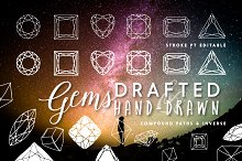 Gems- Hand-drawn & Precise Drafted