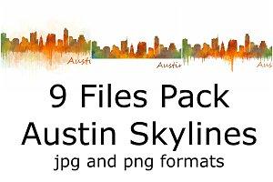 9x Pack Austin Skylines