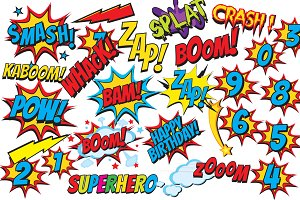 Superhero clip art comic book