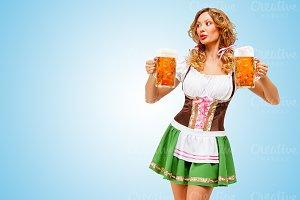 Oktoberfest waitress.