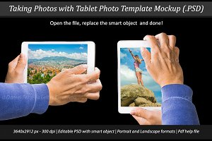 Taking Photo with Tablet Mockup
