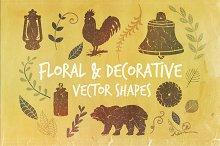 Floral & Decorative Vector Shapes