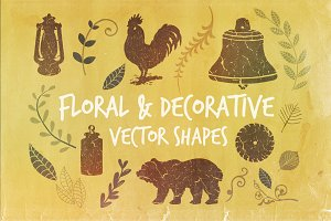 Floral & Decorative Vector Shapes