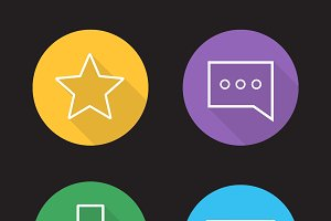 Chat app icons. Vector
