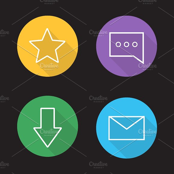 Chat app icons. Vector - Icons
