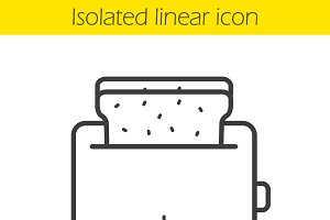 Toaster linear icon. Vector