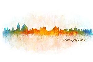 Jerusalem Cityscape Skyline