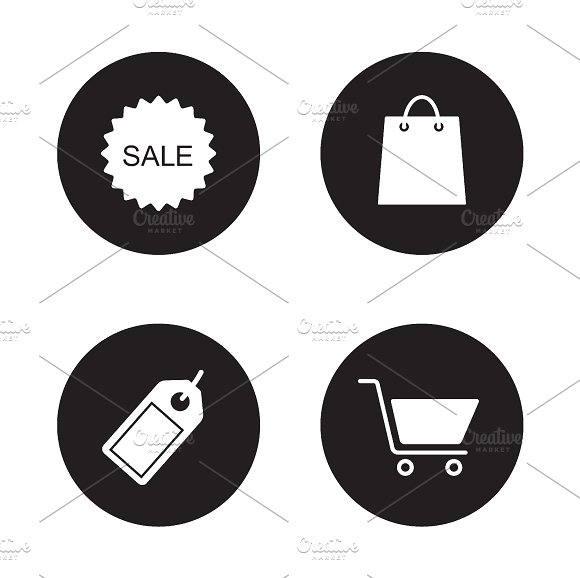 Shopping icons set. Vector - Icons