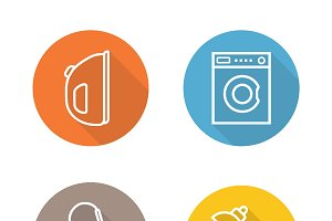 White goods icons. Vector
