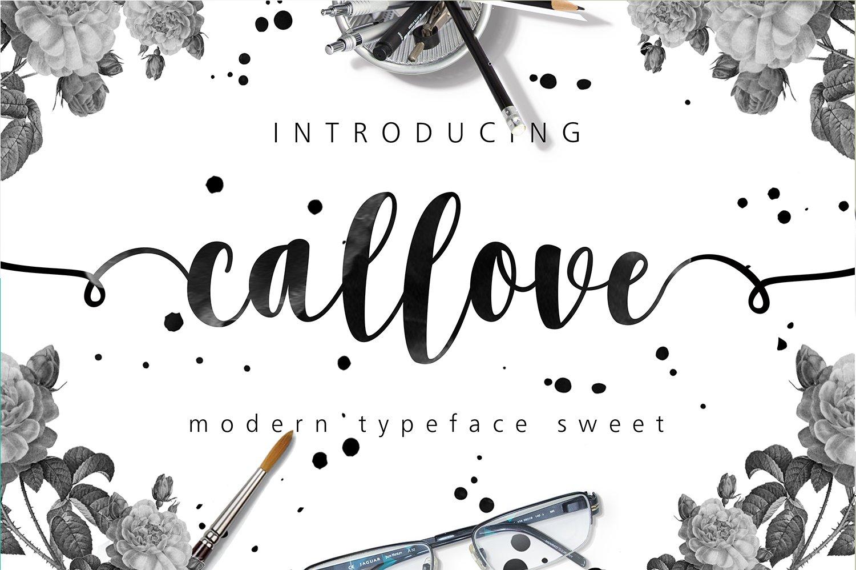 Callove Script Script Fonts Creative Market