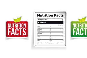 Nutrition Facts label set