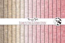 Seamless Pink & Brown Linen