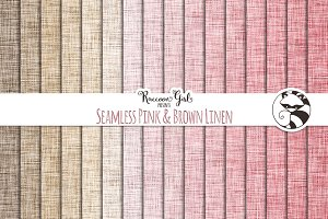 Seamless Pink & Brown Linen