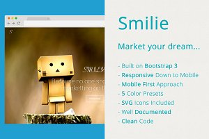 Smilie - App Landing Page