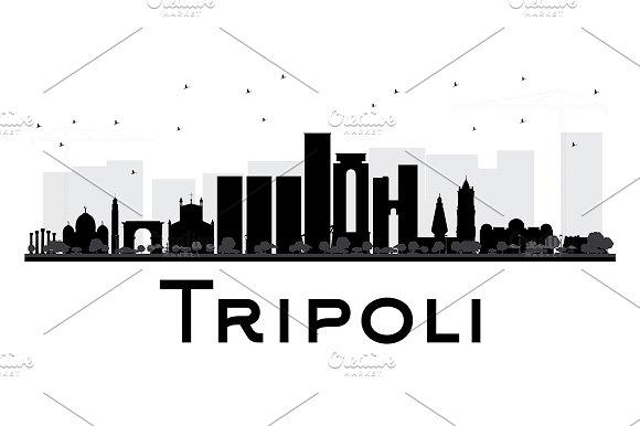 Tripoli City Skyline Silhouette