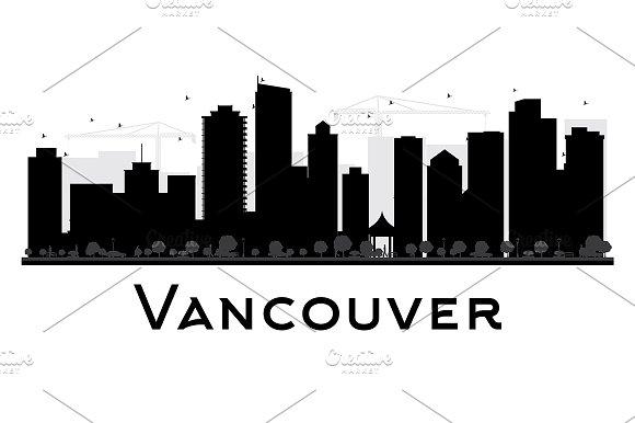 Vancouver City Skyline Silhouette